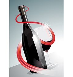 Premium or superior red wine vector image