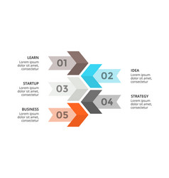 Arrows timeline infographic growth diagram vector