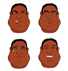 Expressions black male vector