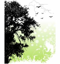 return to nature vector image