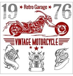 Vintage motorcycle labels badges and design vector image