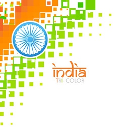 Artistic indian flag vector
