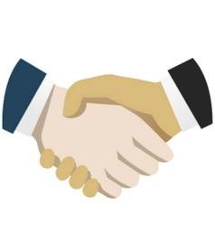 Handshake flat vector