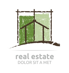 Logo architecture real estate building business vector