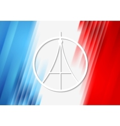 Pray for paris french flag colors vector