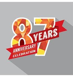 87th years anniversary celebration design vector