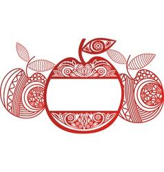 Apple Ornamental Pattern Background vector image vector image