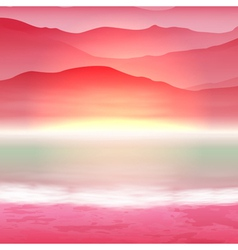 Background with sea and mountain vector image vector image
