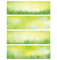 Banners nature vector