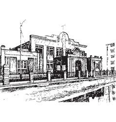Brick building vector