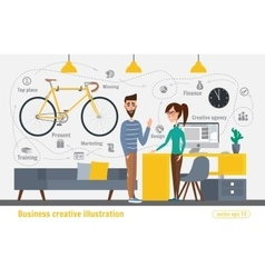 Business creative Women and man vector image vector image
