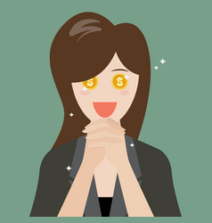 Business woman praying for money vector