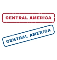 Central america rubber stamps vector