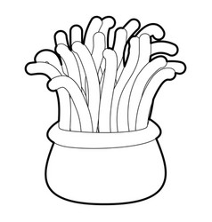 Coral icon outline vector