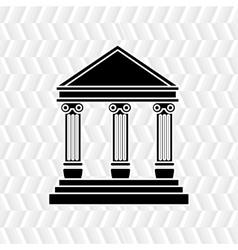 Court building design vector