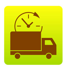 delivery sign brown icon at vector image vector image