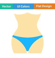 Flat design icon of slim waist vector
