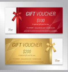 Gift voucher certificate or discount card vector
