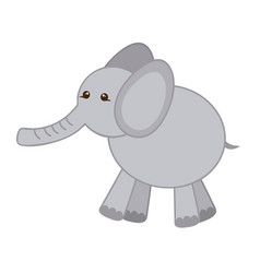 Gray elephant icon stock vector
