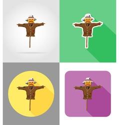 halloween flat icons 10 vector image vector image
