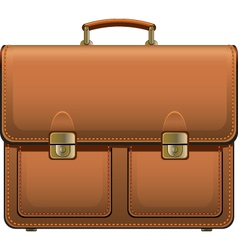 leather suitcase vector image