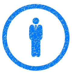 manager rounded grainy icon vector image vector image