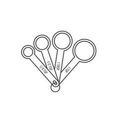 Measuring spoon outline design icon vector