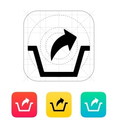 Remove from basket icon vector