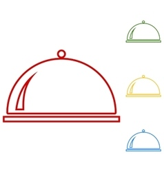 Server Set of line icons vector image vector image