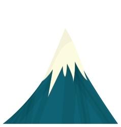 Snowy mountain icon vector