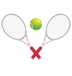 Tennis Ball and Racket2 vector image