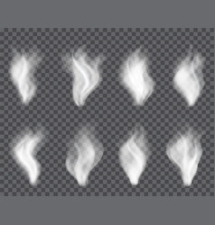 transparent smoke on dark a plaid background vector image vector image