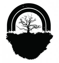 tree rainbow vector image vector image