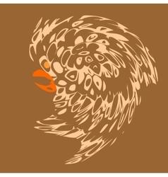 Tribal style design bird tattoos pattern vector image vector image