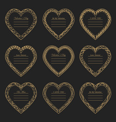 valentine s day vintage frames on background vector image
