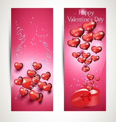 vertical Flyers with gift box vector image