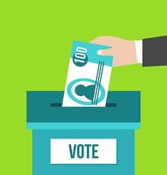 Voting box vector image