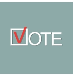 Voting concept picture vector image vector image