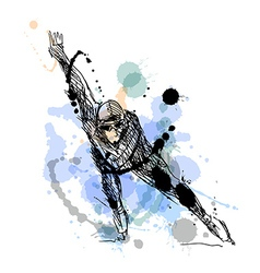 Colored hand drawing skater vector