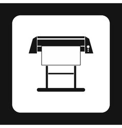 Large format printer icon simple style vector