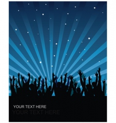 Party audience background vector
