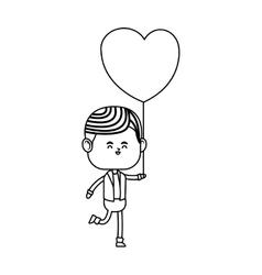boy kawaii icon vector image