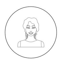 Readhead woman icon in outline style isolated on vector