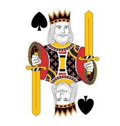 king of Spades vector image