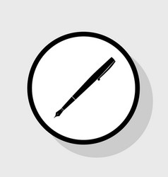 pen sign   flat black icon in vector image