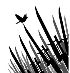 Bayonet bird of peace vector