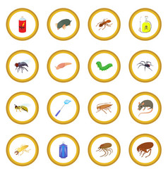 Insect icon circle vector