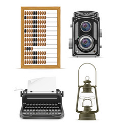 objects old retro vintage icon stock vector image