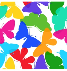 Seamless background of butterflies multi colored vector