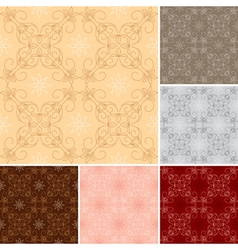 Dark and light seamless patterns for background vector
